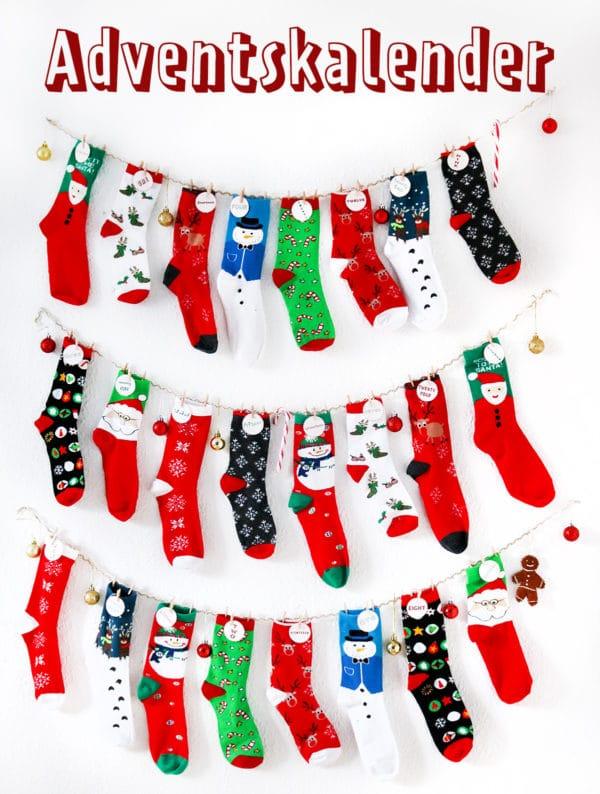 Socken Adventskalender Handmade Kultur