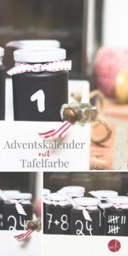 Einfach mal Schwarz-Weiß: Adventskalender mit Tafellack
