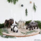 Adventskranz mit Tierfiguren
