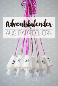 DIY Adventskalender aus Pappbechern