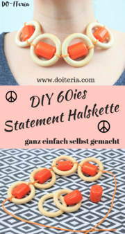 DIY 60ies Statement Halskette