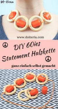 DIY 60ies Statement Halskette