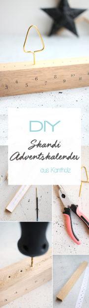 Schlichter Adventskalender im skandinavischen Stil