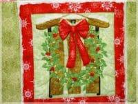 Kleines weihnachtliches Quilt, einfach , für Nähanfänger
