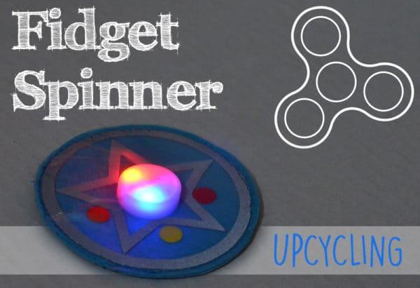 Fidget Spinner Upcycling: Leuchtende Kletties für den Schulranzen