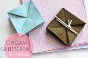 Origami-Geldbörse aus veganem Leder