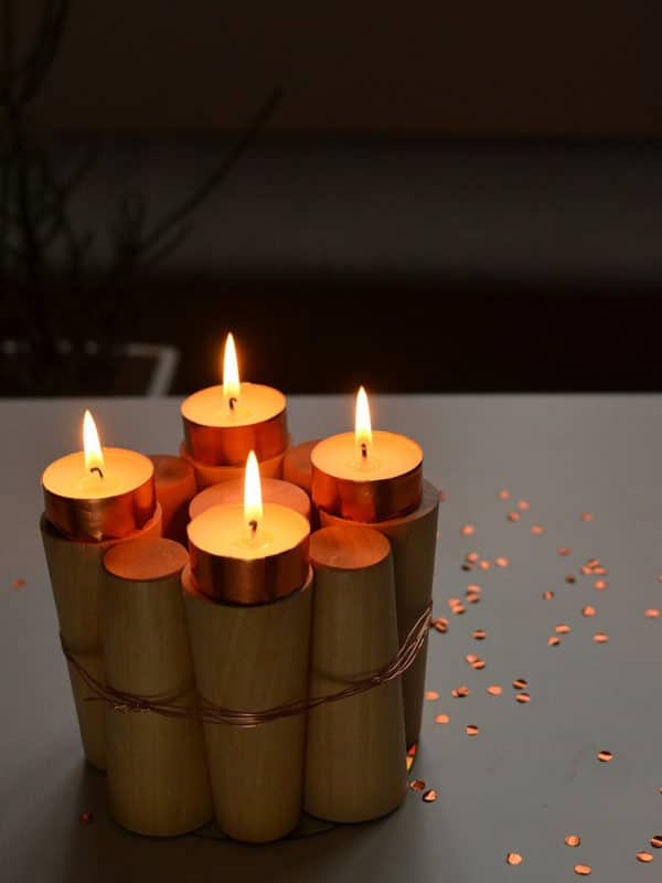 Last-Minute-Upcycling-Adventskranz aus Holz