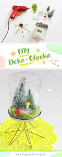 DIY CLOCHE / DEKO-GLASGLOCKE SELBER MACHEN