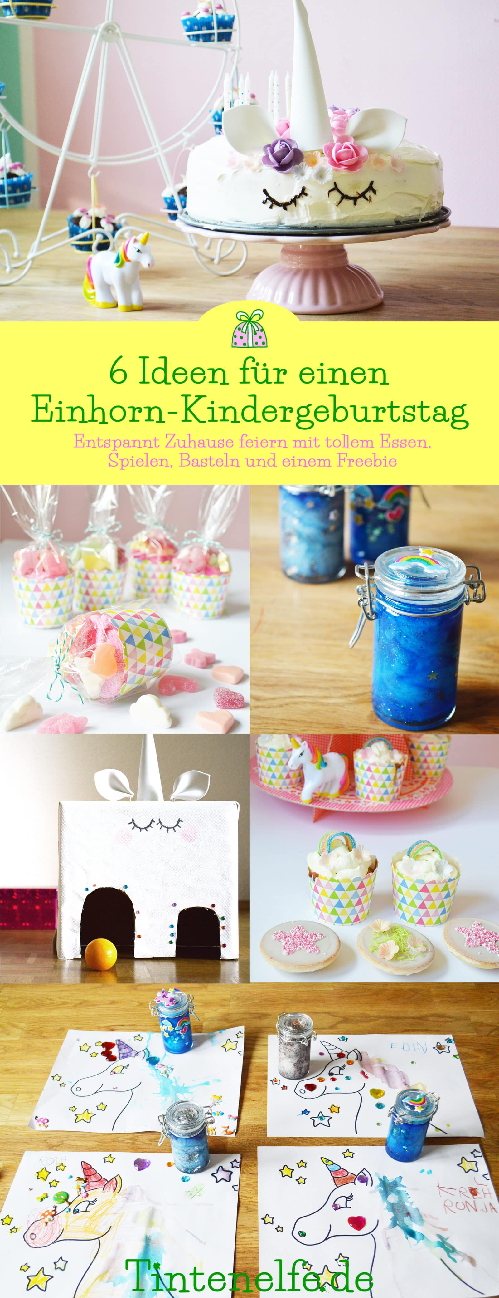 6 diy ideen f r einen einhorn kindergeburtstag handmade kultur. Black Bedroom Furniture Sets. Home Design Ideas