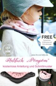 Halstuch POMPOM - für Kinder - kostenlose Anleitung und Schnittmuster
