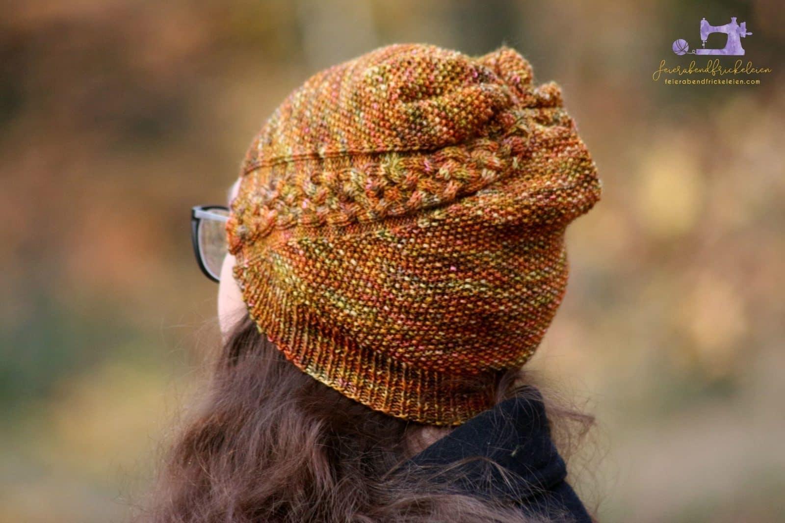 Strickanleitung Trena Eine Mütze Mit Zopfmuster Für Erwachsene