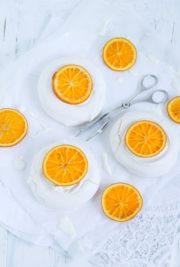 """""""Pavlova mit Earl-Grey-Mascarpone und kandierten Orangen!"""""""
