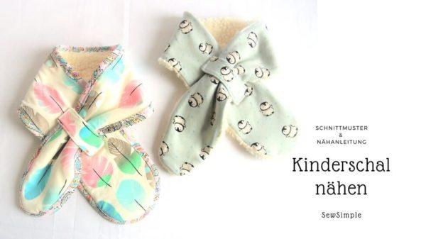 Schnittmuster: Schal für Kinder nähen