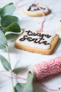 Butterplätzchen Lettering | Rezept für lustige Weihnachtsplätzchen mit Lettering Vorlage