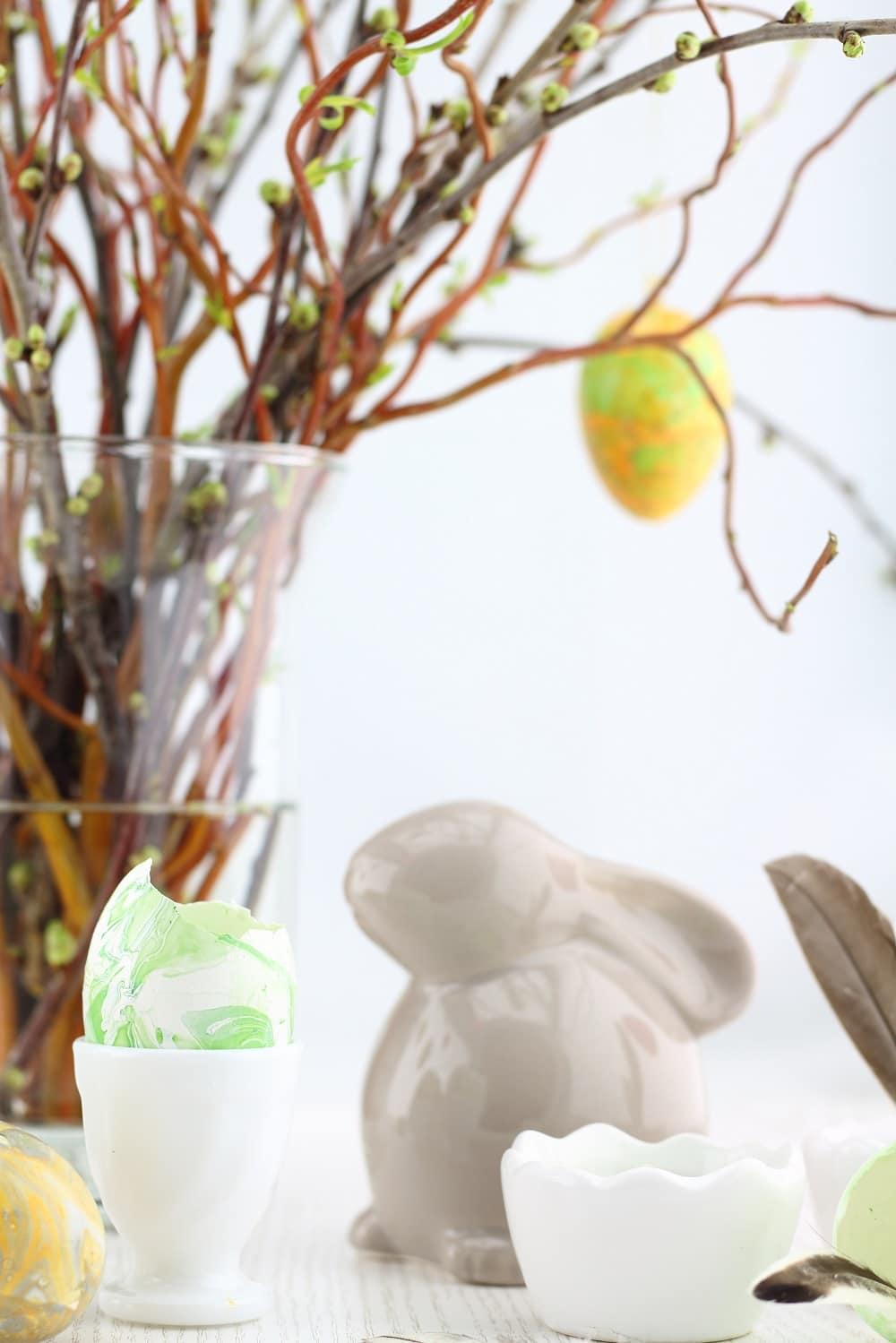 Oster-DIY] Ostereier marmorieren mit Nagellack - HANDMADE Kultur