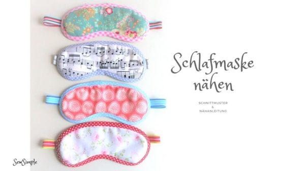 Freebook: Schlafmaske nähen