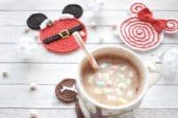 Winterliche Untersetzer häkeln - mit Disney touch!