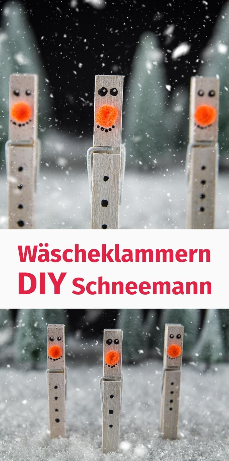 Wascheklammern Diy Schneemann Handmade Kultur