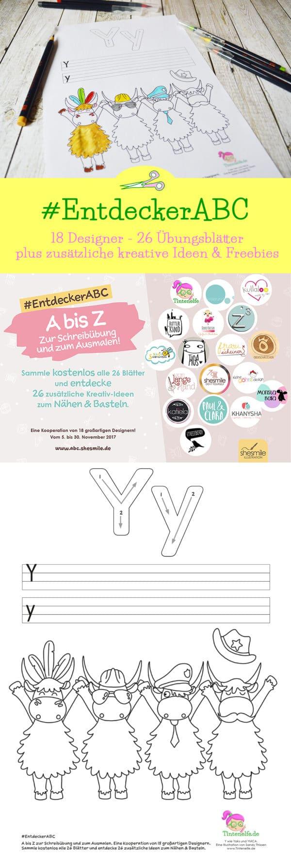 #EntdeckerABC - 18 Designer, 26 Übungsblätter und bei mir gibts das Y