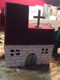DIY Adventsgesteck aus Pappe
