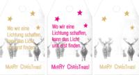 Paketanhänger für Weihnachten als freebie