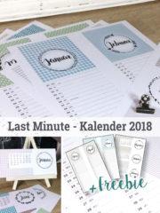 Last Minute – Kalender 2018