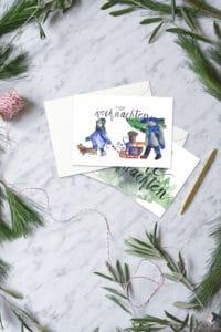 3 kostenlose Printables für Weihnachtspost