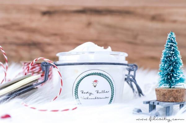 diy geschenkidee body butter mit winterduft handmade kultur. Black Bedroom Furniture Sets. Home Design Ideas