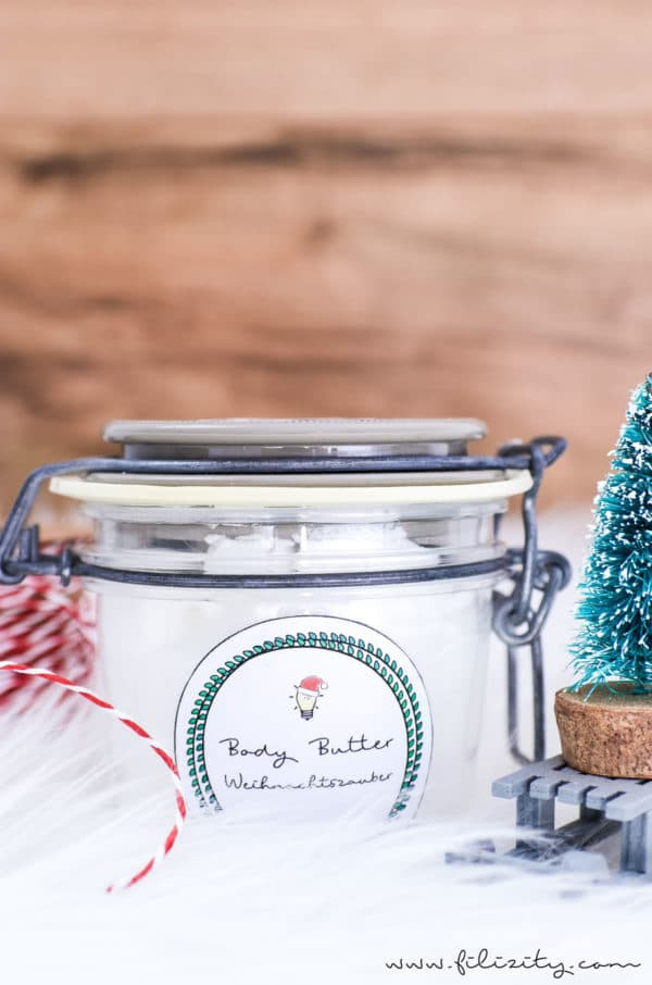 DIY Geschenkidee: Body Butter mit Winterduft