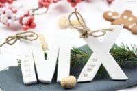DIY weihnachtliche Fimo Namensschilder