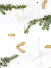 DIY weihnachtlicher Fimo Kerzenständer
