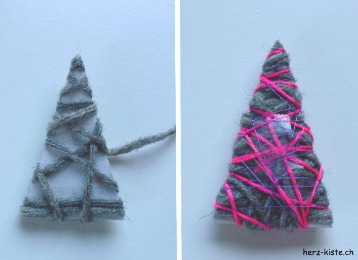 diy weihnachtskarte mit tannenbaum handmade kultur. Black Bedroom Furniture Sets. Home Design Ideas