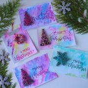 DIY Weihnachtskarte mit Tannenbaum