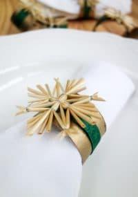Weihnachtliche Serviettenringe, einfach gemacht