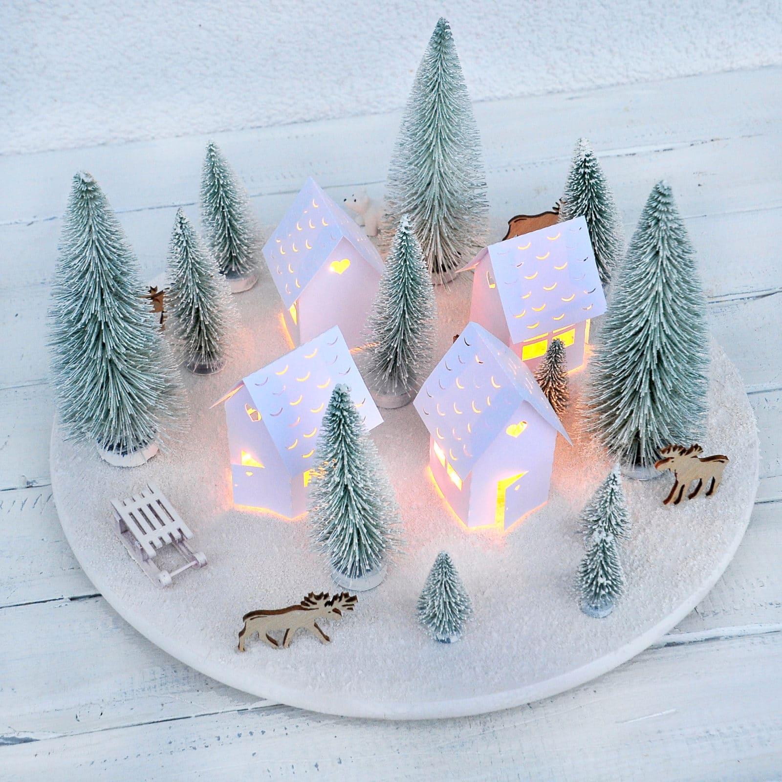 skandinavisches weihnachtsdorf adventskranz mal anders. Black Bedroom Furniture Sets. Home Design Ideas