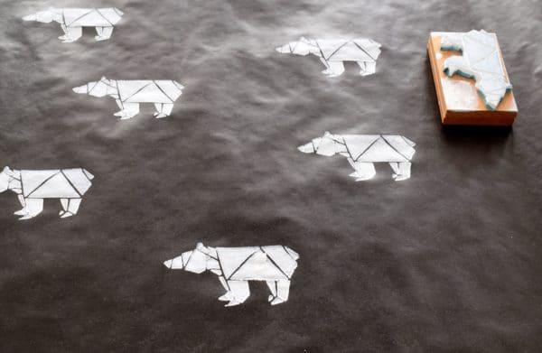 """DIY Geschenkpapier drucken: """"Der Bär ist los!"""""""