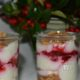 Spekulatius-Dessert mit Himbeeren