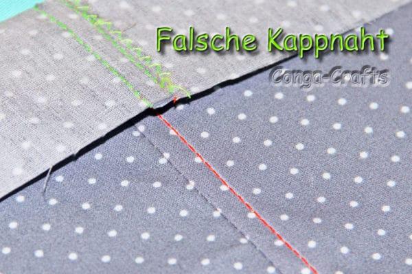 """Anleitung """"Falsche"""" Kappnaht"""