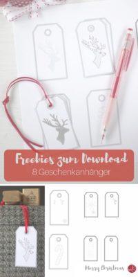 Freebie: 8  Geschenkanhänger zum selbst gestalten