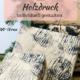 Geschenkpapier mit Holzdruck gestalten
