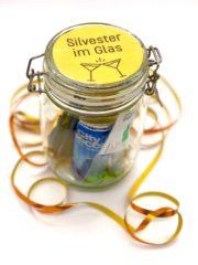Silvester im Glas - süße Idee für ein Gast Geschenk