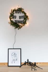 Weihnachtskranz mit Spruch