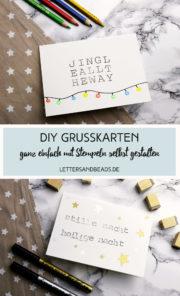 Grußkarten mit Stempeln zu Weihnachten
