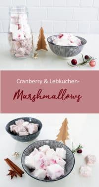 Marshmallows mit Weihnachtsgeschmack