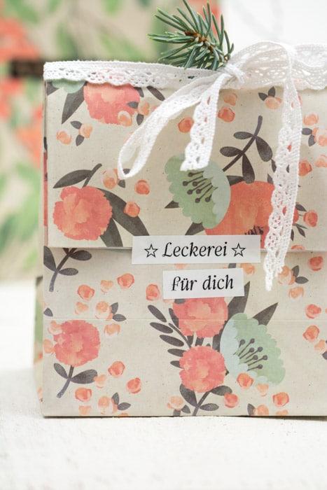 Tannenbaum-Nudeln und eine Verpackungsidee