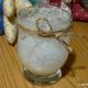 Windlicht mit Eiskristalleffekt