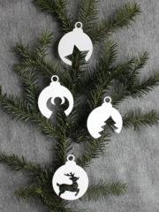 Weihnachtskugeln aus Papier [mit Vorlage]