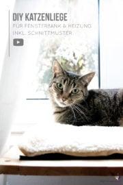 Katzenbett selber bauen – für Fensterbank & Heizung | mit Video