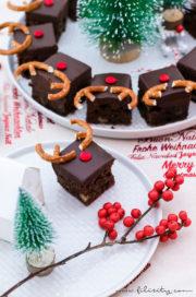 Rudolph Brownies – Der schokoladigste Weihnachts-Kuchen
