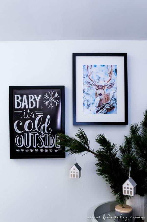 hyggelige winterdeko beleuchtete poster selber machen handmade kultur. Black Bedroom Furniture Sets. Home Design Ideas